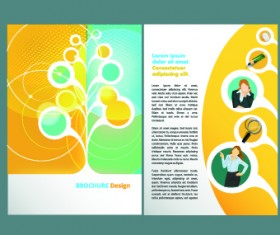 Business flyer and brochure cover design vector 27