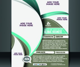 Business flyer and brochure cover design vector 29