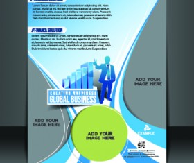 Business flyer and brochure cover design vector 33