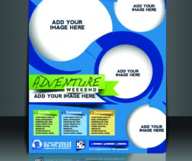 Business flyer and brochure cover design vector 34