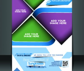 Business flyer and brochure cover design vector 35