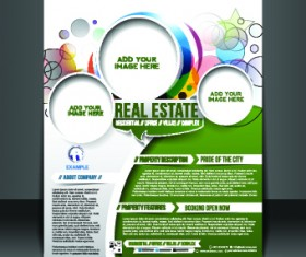 Business flyer and brochure cover design vector 36