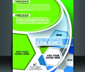 Business flyer and brochure cover design vector 04