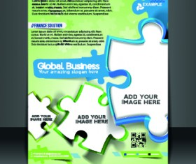 Business flyer and brochure cover design vector 06