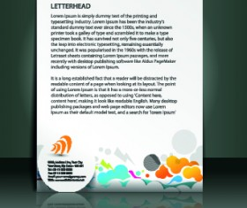Business flyer and brochure cover design vector 08