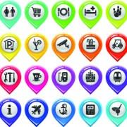 Link toMap marker design elements vector 02