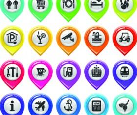 Map marker design elements vector 02