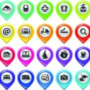 Link toMap marker design elements vector 03