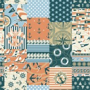 Link toDifferent nautical pattern vector set 02