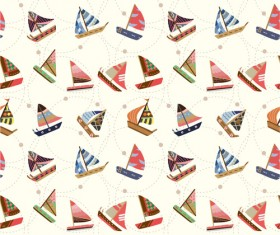 Different Nautical pattern vector set 04