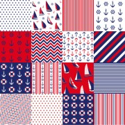 Link toIfferent nautical pattern vector set 05