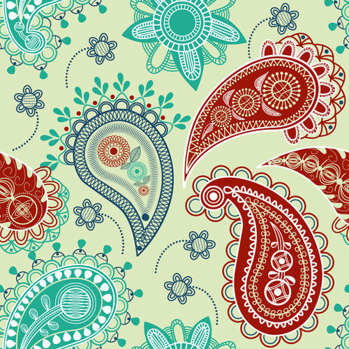Vector paisley pattern set 03 - Vector Pattern free download