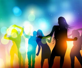 Party People silhouette vector 01