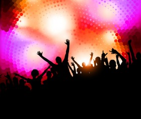 Party People silhouette vector 03
