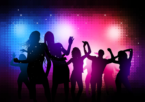 Party People Silhouette Vector Free Party People Silhouette Vector