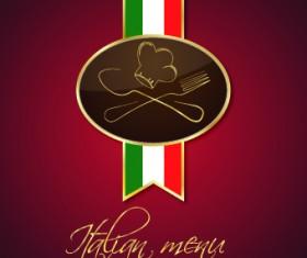 Italian menu design elements vector 02