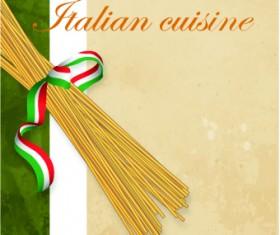 Italian menu design elements vector 03