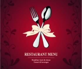 Italian menu design elements vector 04
