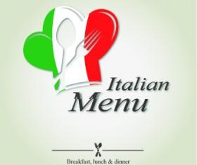 Italian menu design elements vector 05