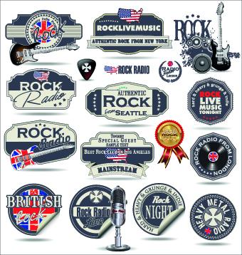 Retro rock music and jazz labels vector 03 over millions vectors retro rock music and jazz labels vector 03 toneelgroepblik Images