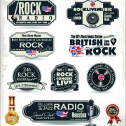 Link toRetro rock music and jazz labels vector 04