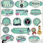 Link toRetro rock music and jazz labels vector 05