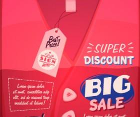 Sales promotion poster design vector 02