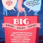 Link toSales promotion poster design vector 05