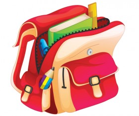 School accessories elements vector 05