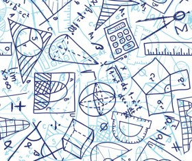 School elements vector pattern set 03