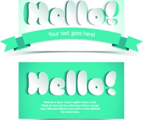 Creative shopping greetings cards vector 01