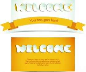 Creative shopping greetings cards vector 02
