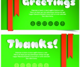 Creative shopping greetings cards vector 05