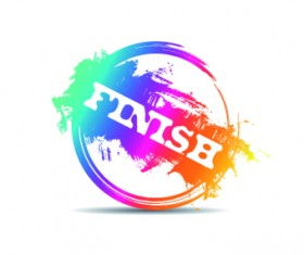 Creative stamp logo vector 05