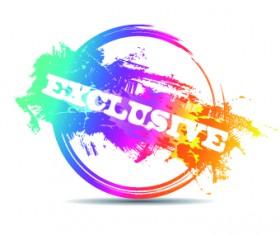 Creative stamp logo vector 06