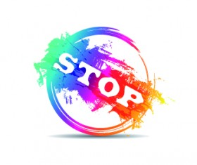 Creative stamp logo vector 09