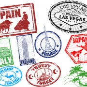 Link toVarious travel stamps design vector 05