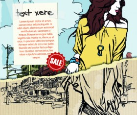 Hand drawn urban fashion elements vector 01