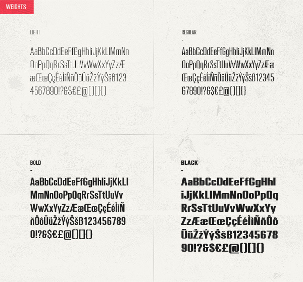 Different style 4 Kind fonts