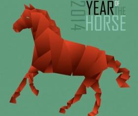 2014 Year Horse background