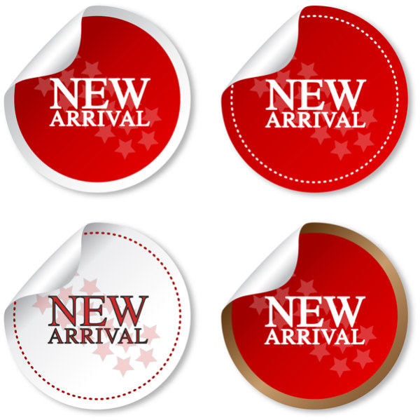 New arrival Sticker vector - Vector Label free download