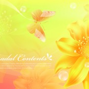 Link toYellow style flower background vector 01