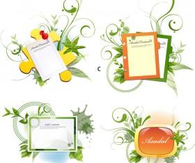 Green flower design text vector