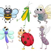 Link toFunny cartoon insects vector set 08