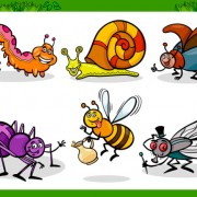 Link toFunny cartoon insects vector set 12