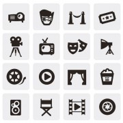Link toHuge collection of black and white icons vector 03