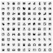 Link toHuge collection of black and white icons vector 04