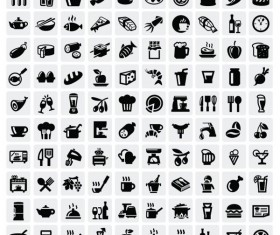 Huge collection of Black and white icons vector 07