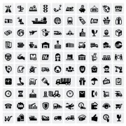 Link toHuge collection of black and white icons vector 08