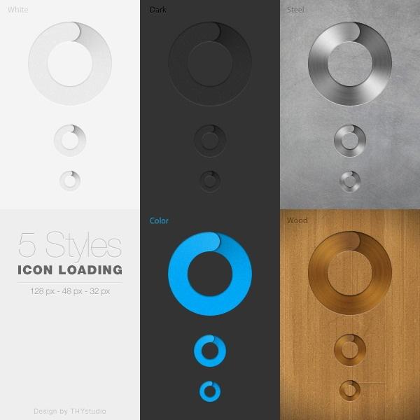 5 Kind Loading icons